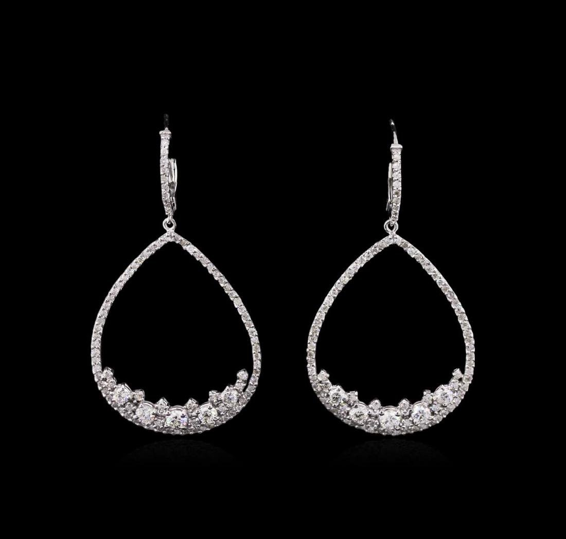 1.86 ctw Diamond Earrings - 14KT White Gold
