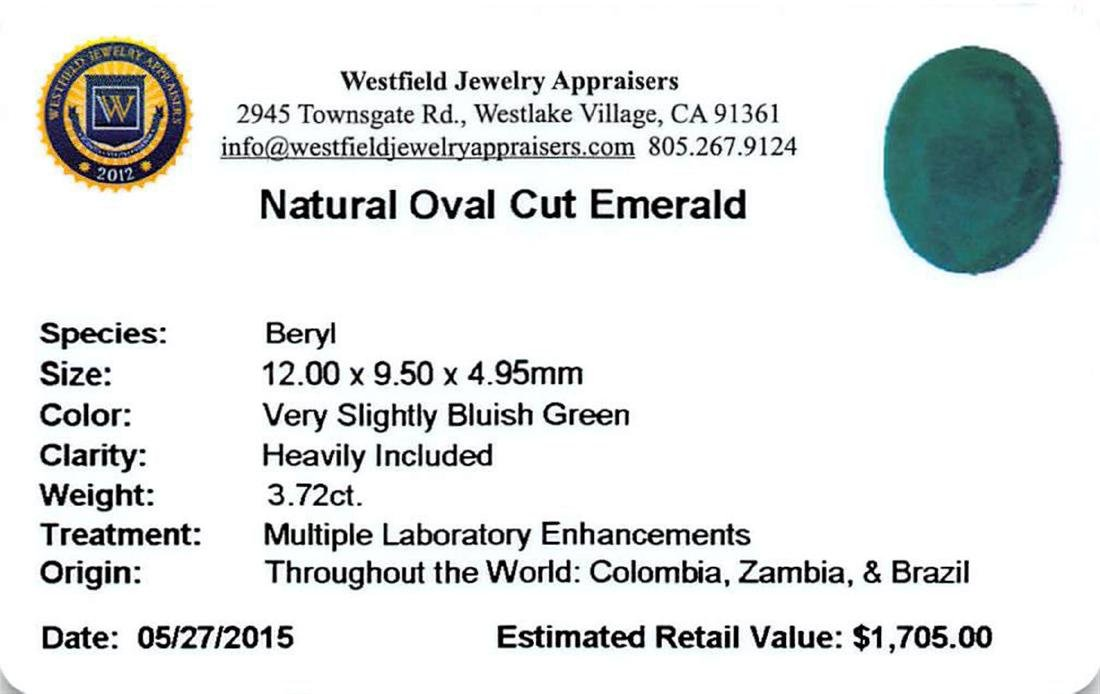3.72 ctw Oval Mixed Emerald Parcel - 2