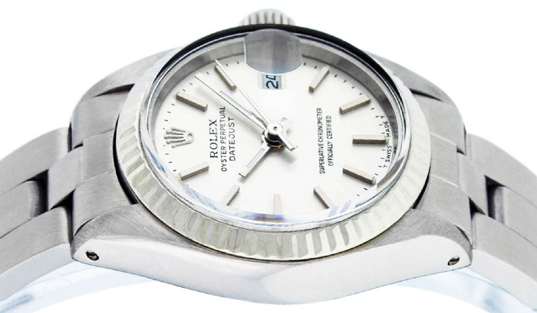 Rolex Ladies Stainless Steel Silver Index Oyster Band - 4