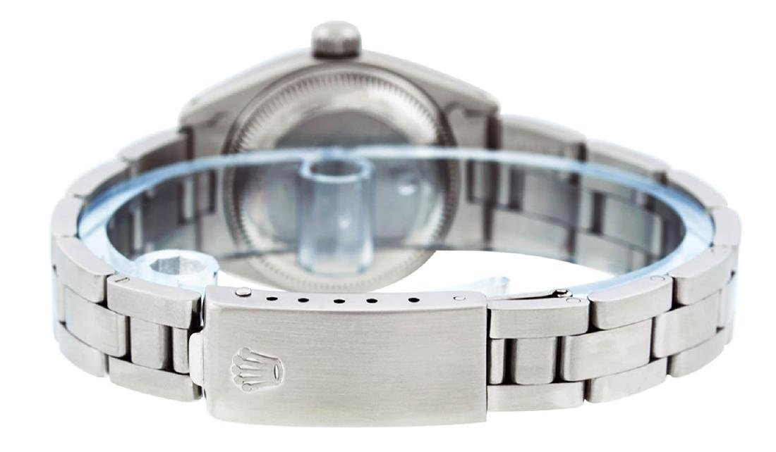 Rolex Ladies Stainless Steel Silver Index Oyster Band - 6