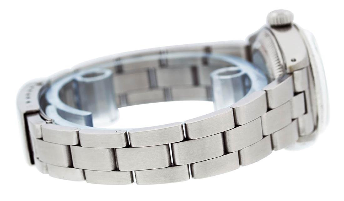 Rolex Ladies Stainless Steel Silver Index Oyster Band - 7