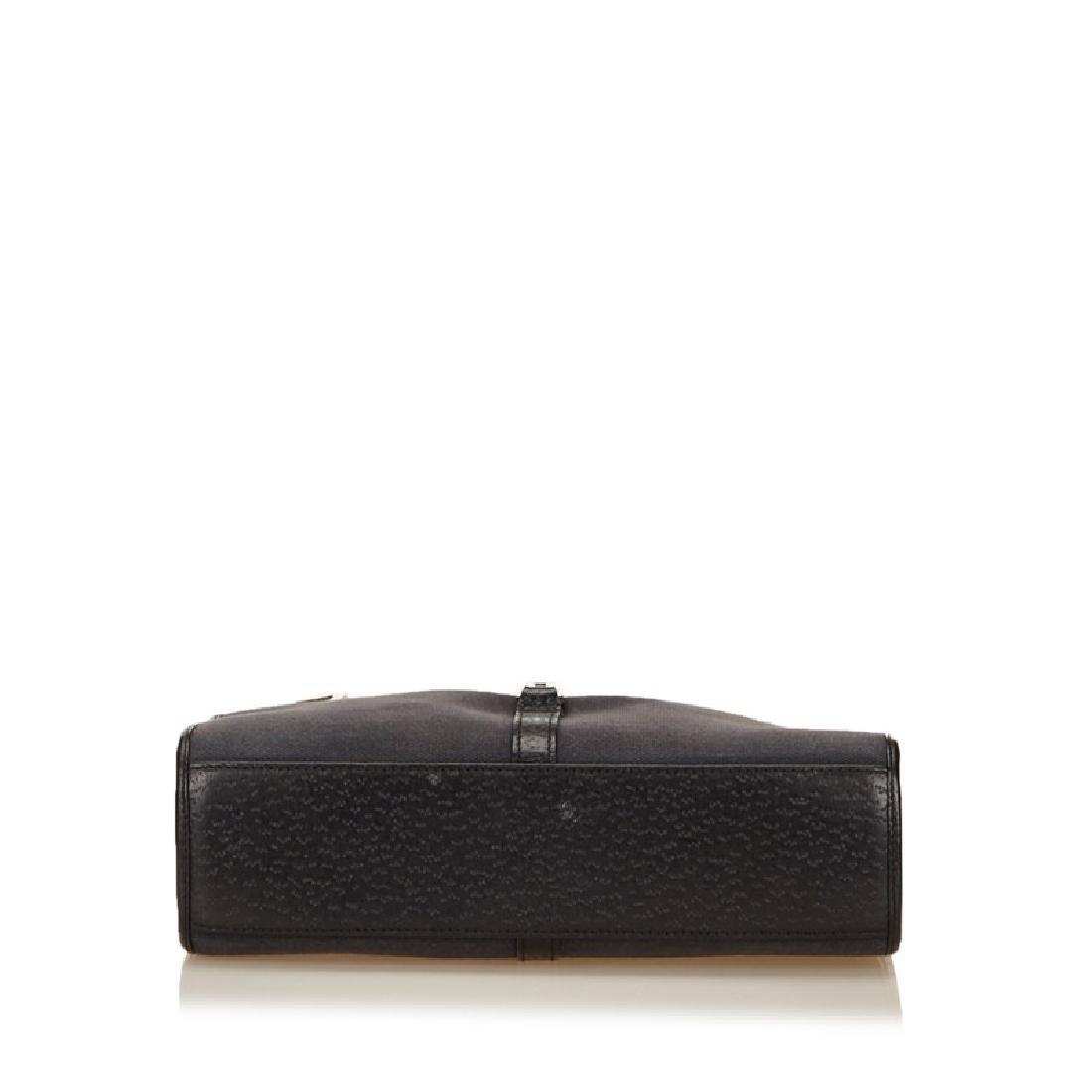 Gucci Black Canvas Leather Jackie Shoulder Bag - 4