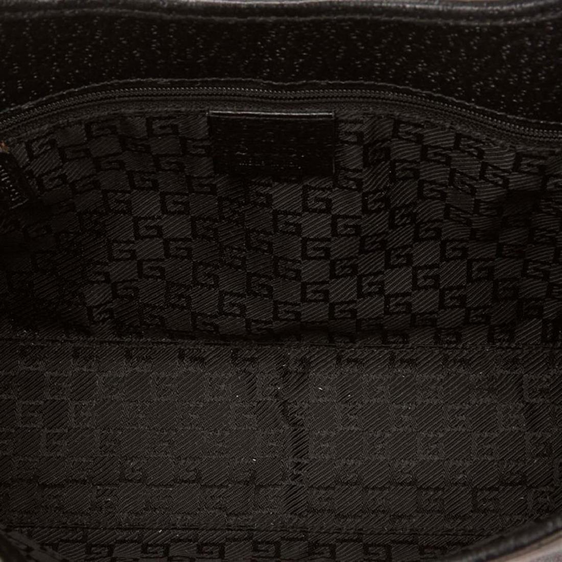Gucci Black Canvas Leather Jackie Shoulder Bag - 5