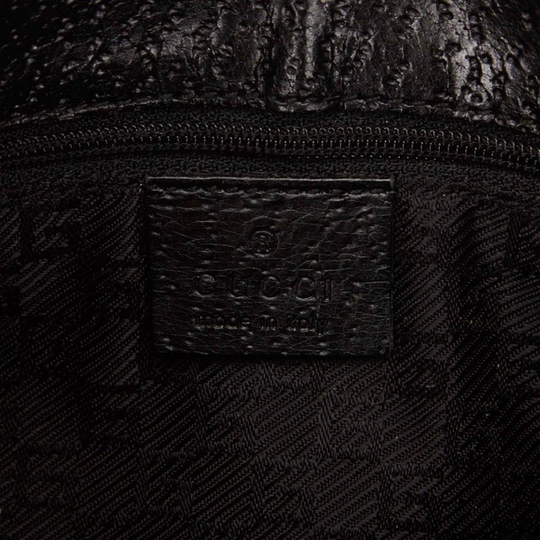 Gucci Black Canvas Leather Jackie Shoulder Bag - 6