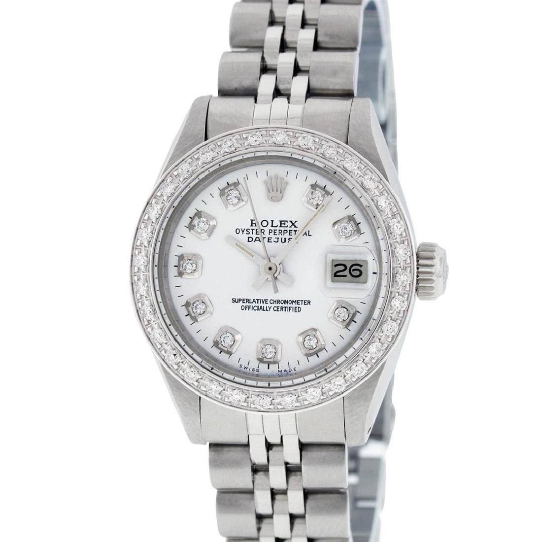 Rolex Ladies Stainless Steel White Diamond 26MM - 2