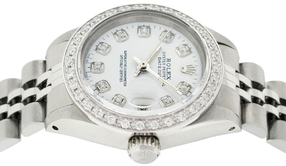 Rolex Ladies Stainless Steel White Diamond 26MM - 3