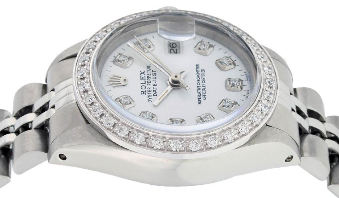 Rolex Ladies Stainless Steel White Diamond 26MM - 4