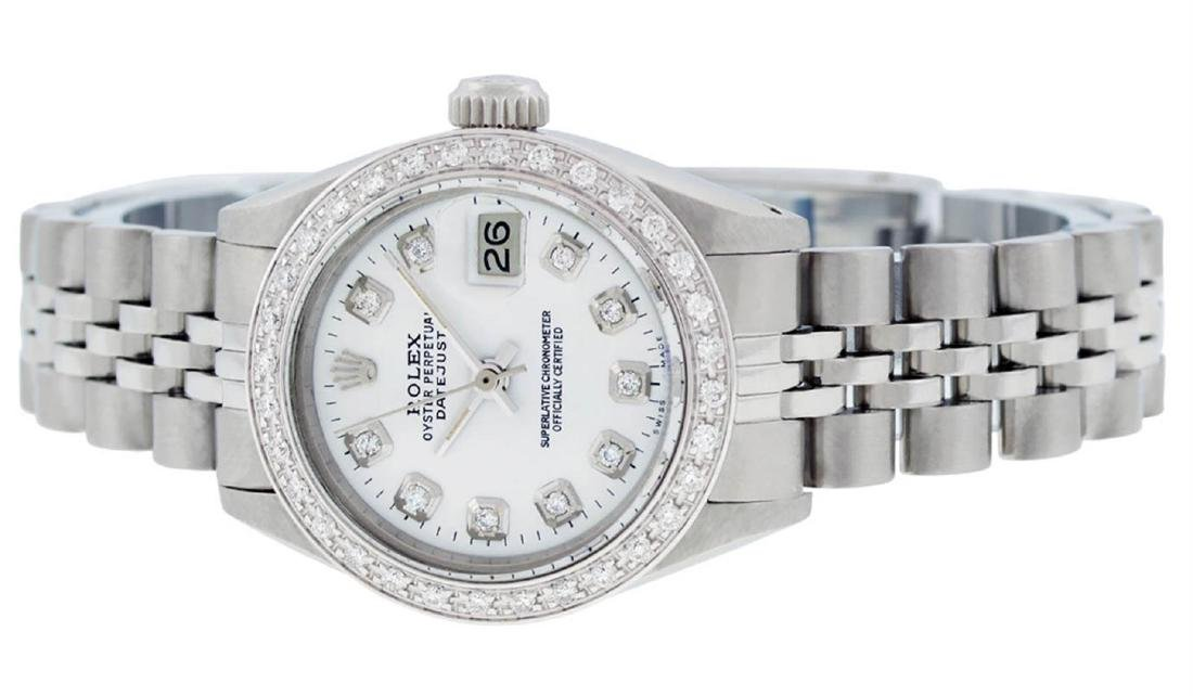 Rolex Ladies Stainless Steel White Diamond 26MM - 5