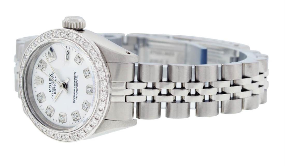 Rolex Ladies Stainless Steel White Diamond 26MM - 6