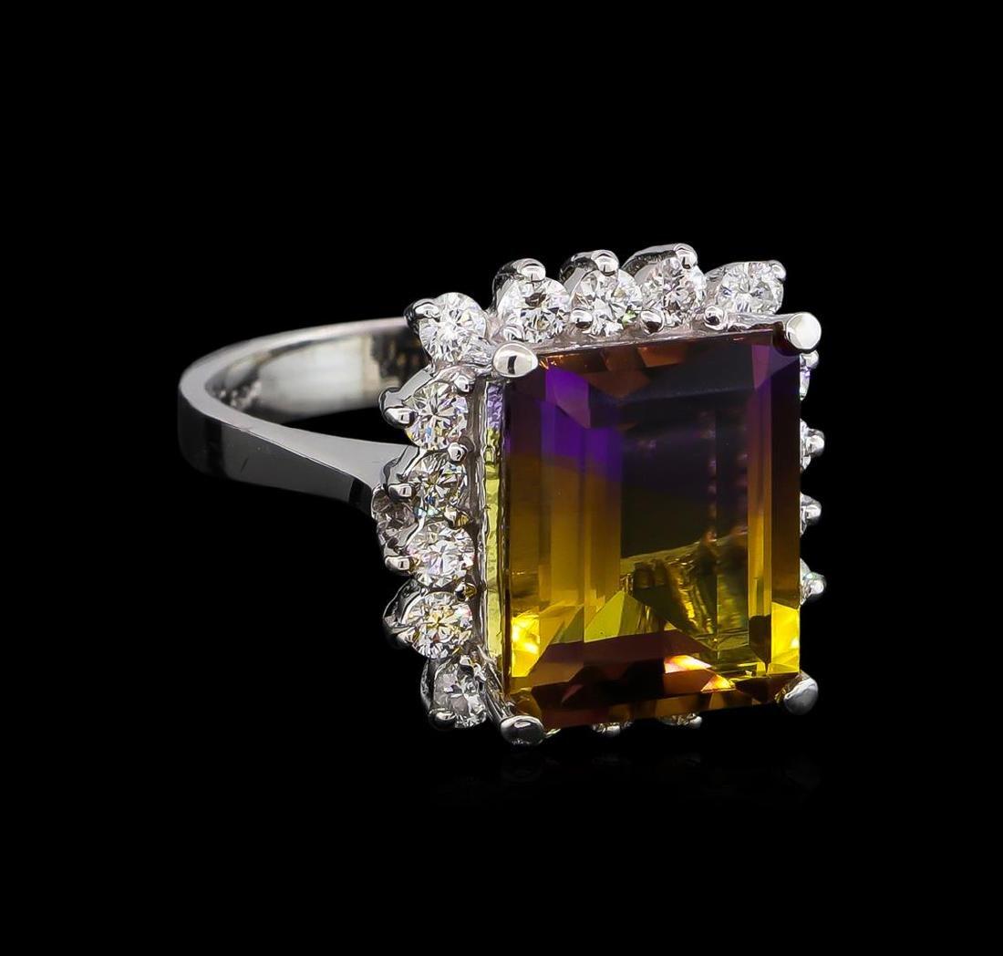 6.00 ctw Ametrine and Diamond Ring - 14KT White Gold