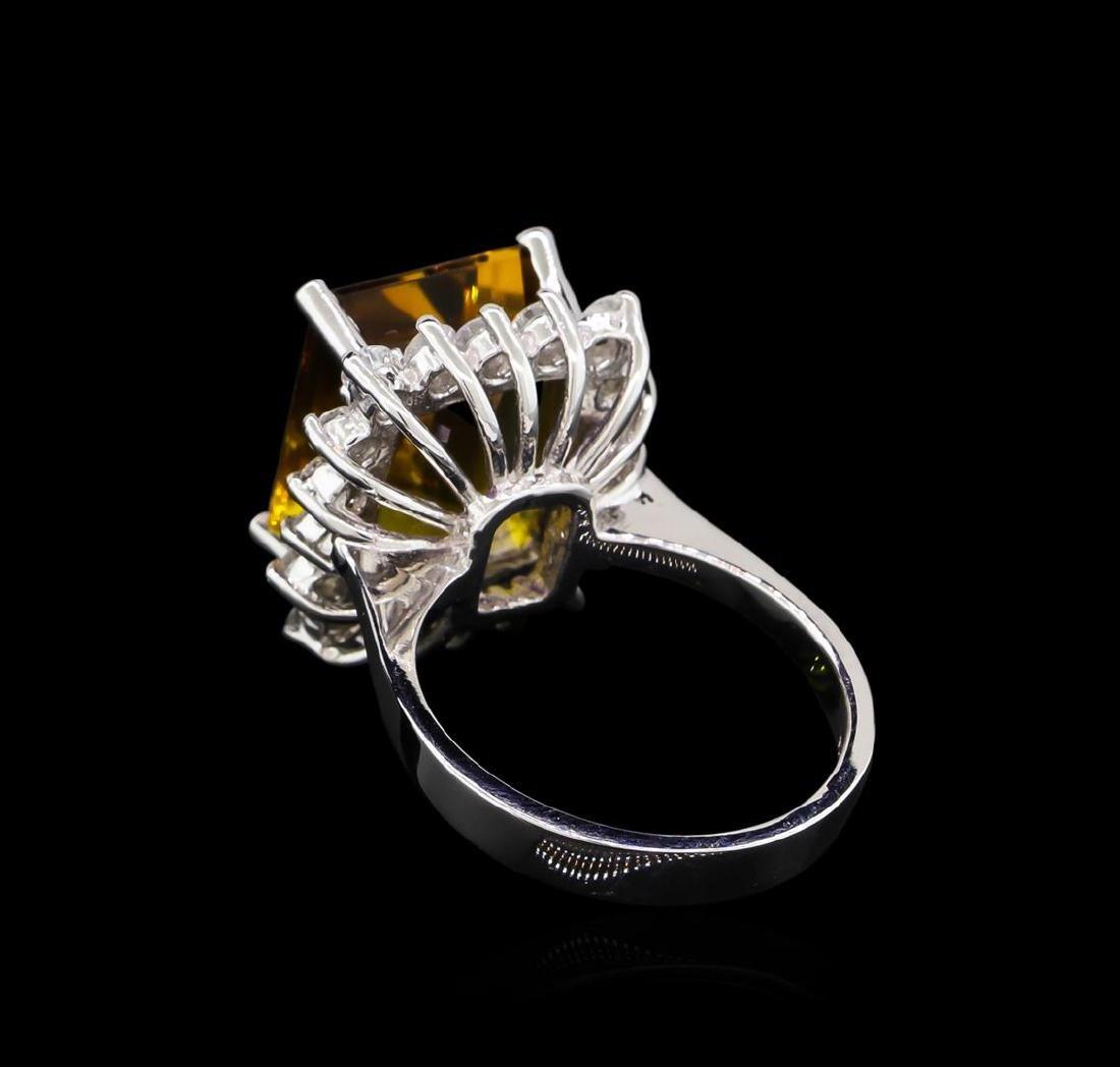6.00 ctw Ametrine and Diamond Ring - 14KT White Gold - 3