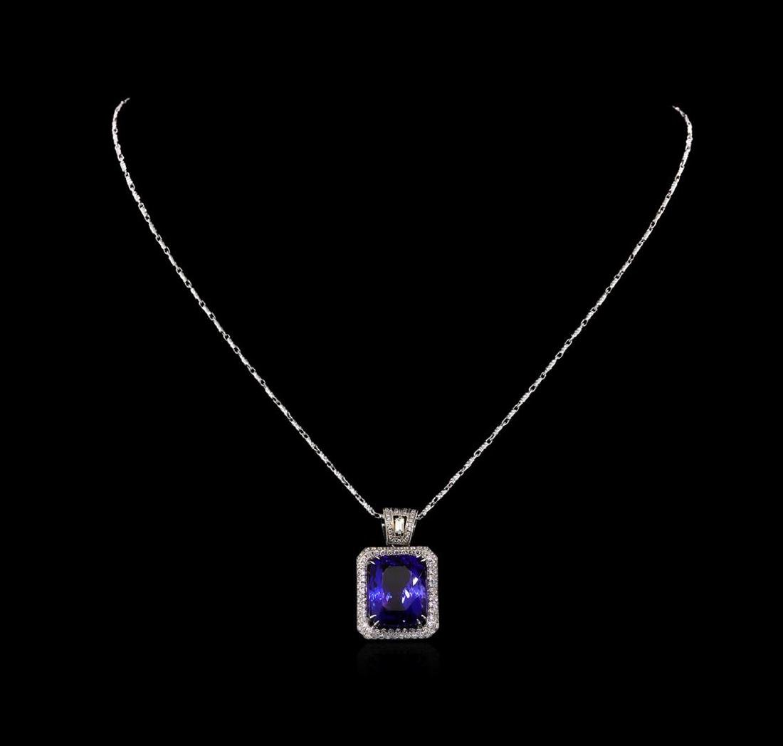 18KT White Gold GIA Certified 16.95 ctw Tanzanite and - 2