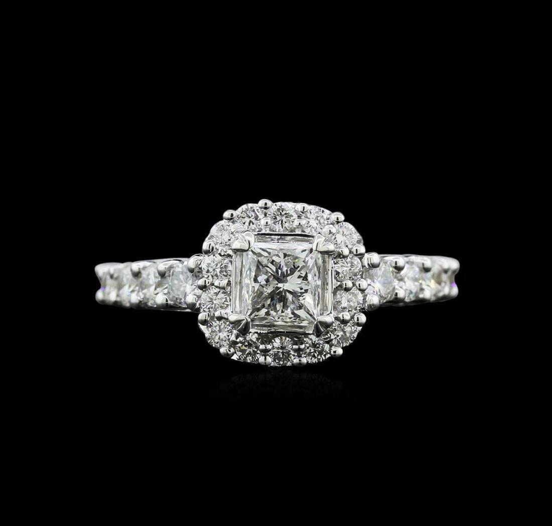 1.69 ctw Diamond Ring - 18KT White Gold - 2
