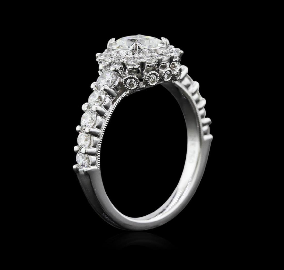 1.69 ctw Diamond Ring - 18KT White Gold - 3