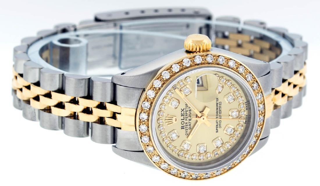 Rolex Ladies 2 Tone 14K Champagne String Diamond - 3