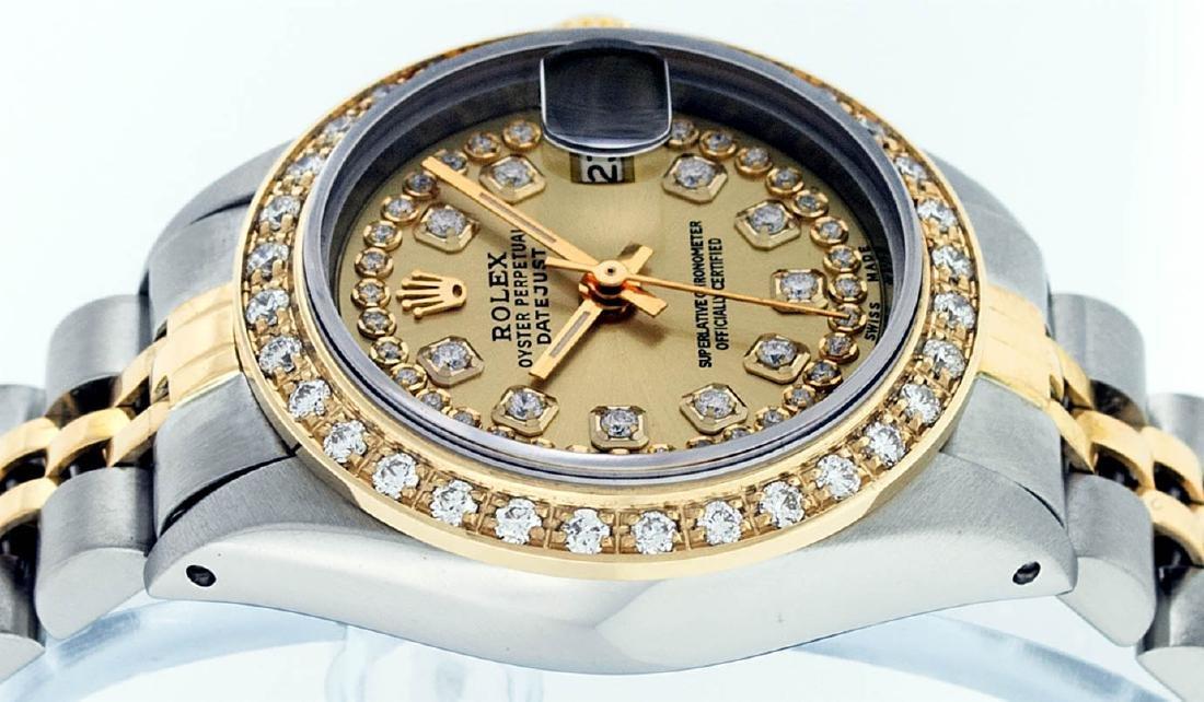 Rolex Ladies 2 Tone 14K Champagne String Diamond - 6