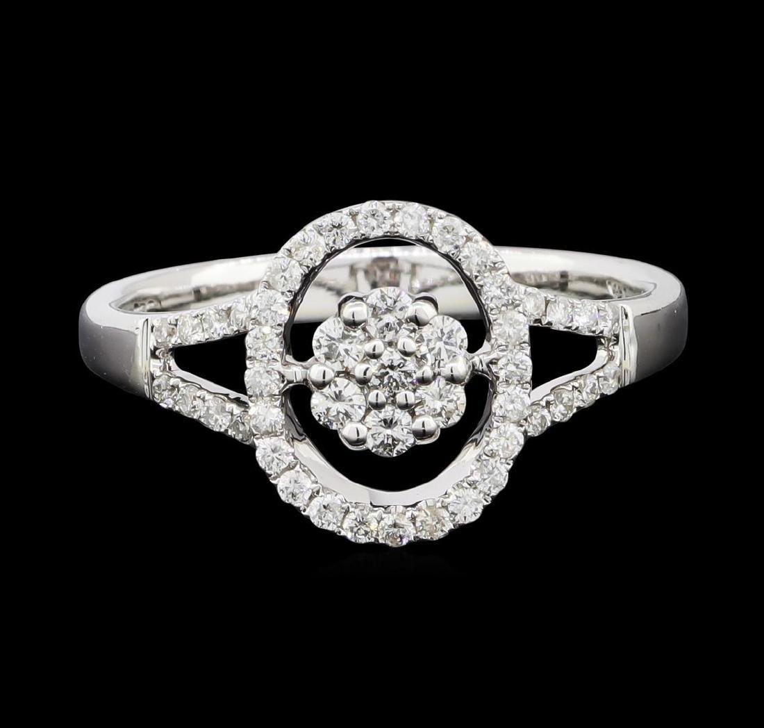 0.30 ctw Diamond Ring - 14KT White Gold - 3