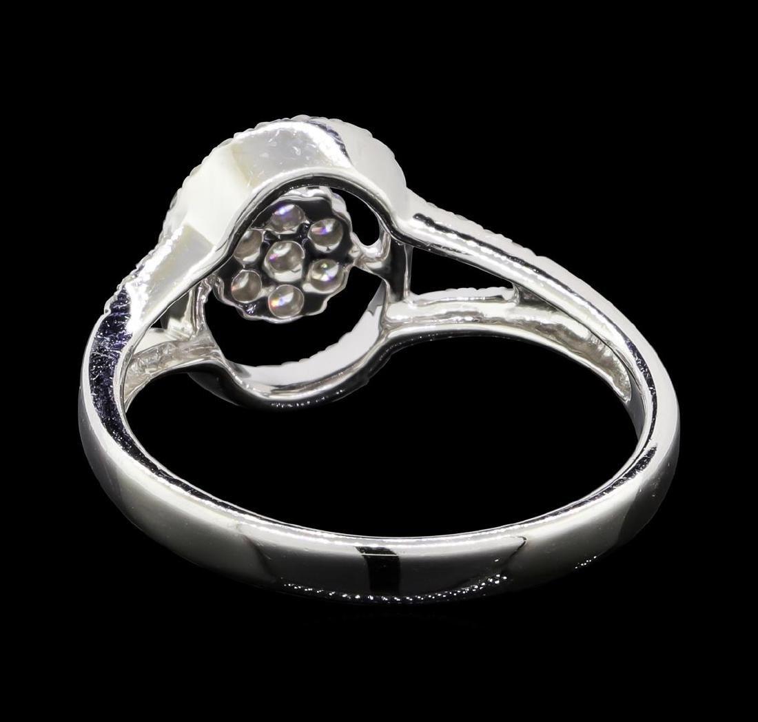 0.30 ctw Diamond Ring - 14KT White Gold - 4