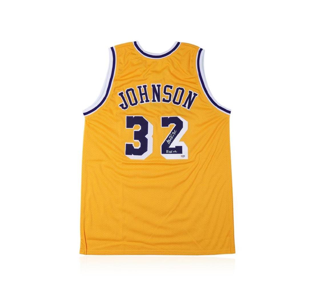 PSA Certified Magic Johnson Autographed Basketball