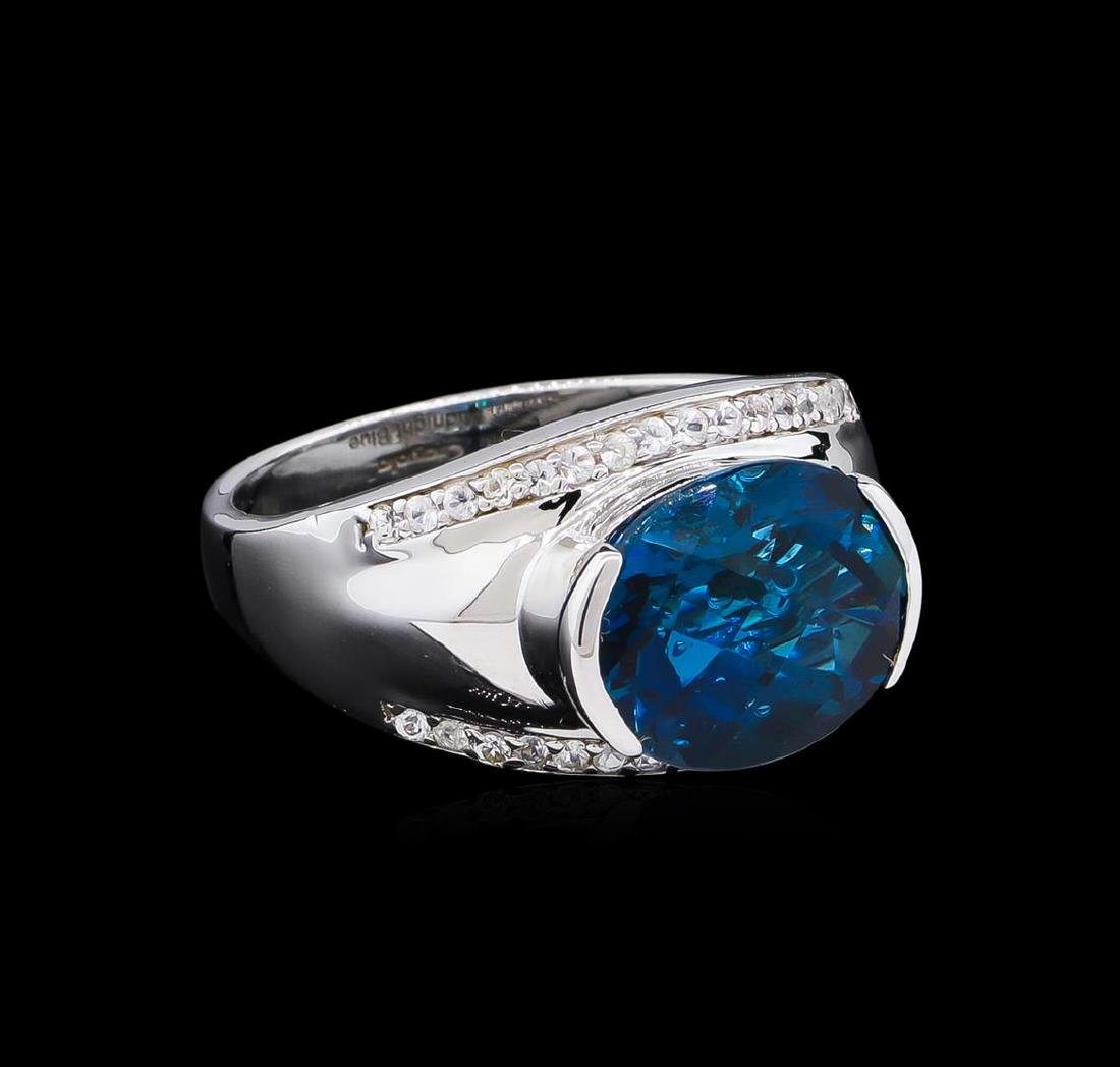Crayola 5.10 ctw Blue Topaz and White Sapphire Ring -