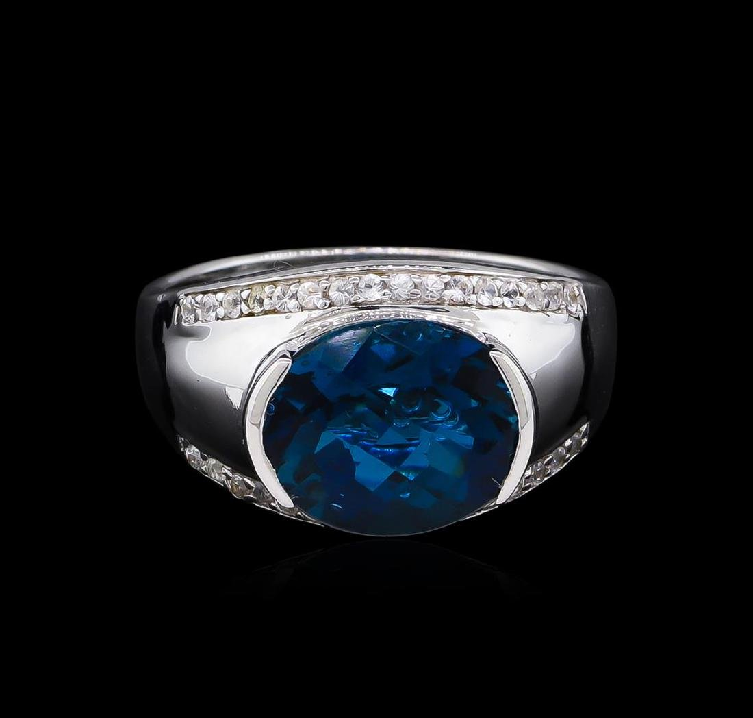 Crayola 5.10 ctw Blue Topaz and White Sapphire Ring - - 2