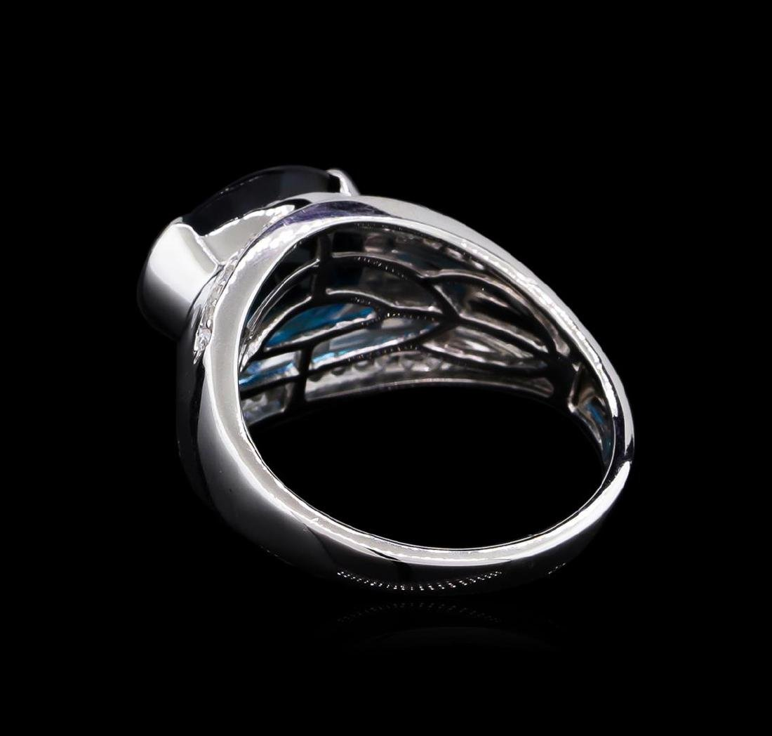 Crayola 5.10 ctw Blue Topaz and White Sapphire Ring - - 3