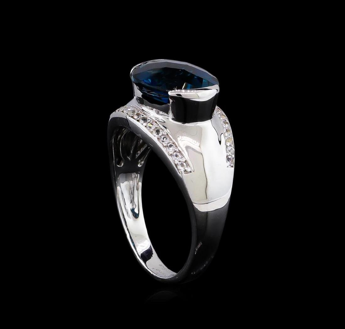 Crayola 5.10 ctw Blue Topaz and White Sapphire Ring - - 4