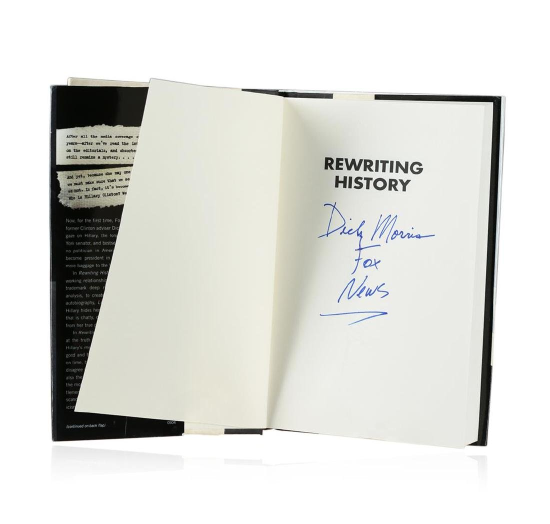 Signed Copy of Rewriting History by Dick Morris - 2