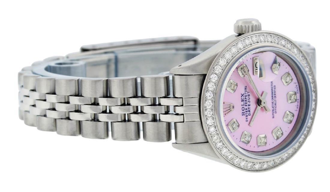 Rolex Ladies Stainless Steel Pink MOP Diamond Datejust - 3