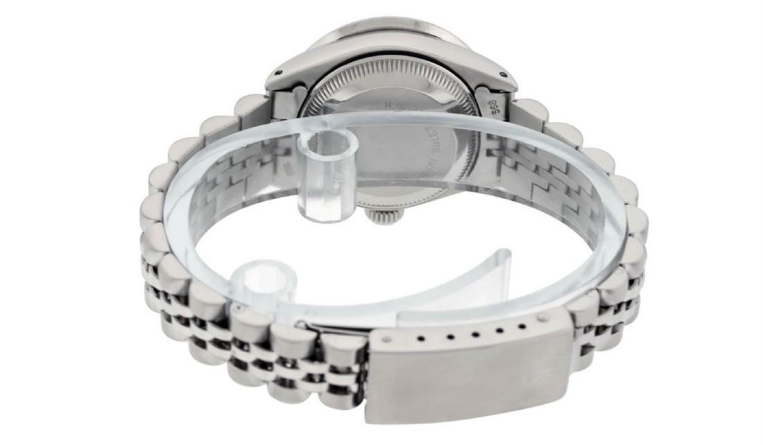 Rolex Ladies Stainless Steel Pink MOP Diamond Datejust - 5
