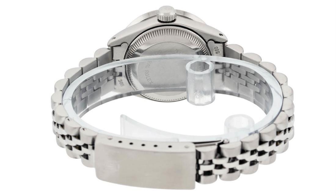 Rolex Ladies Stainless Steel Pink MOP Diamond Datejust - 6