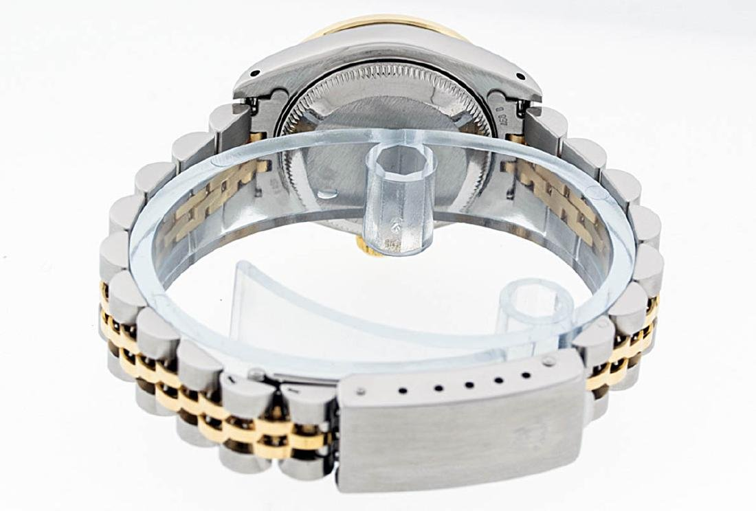 Rolex Ladies 2 Tone 14K Black Diamond Bezel & 1 ctw - 7