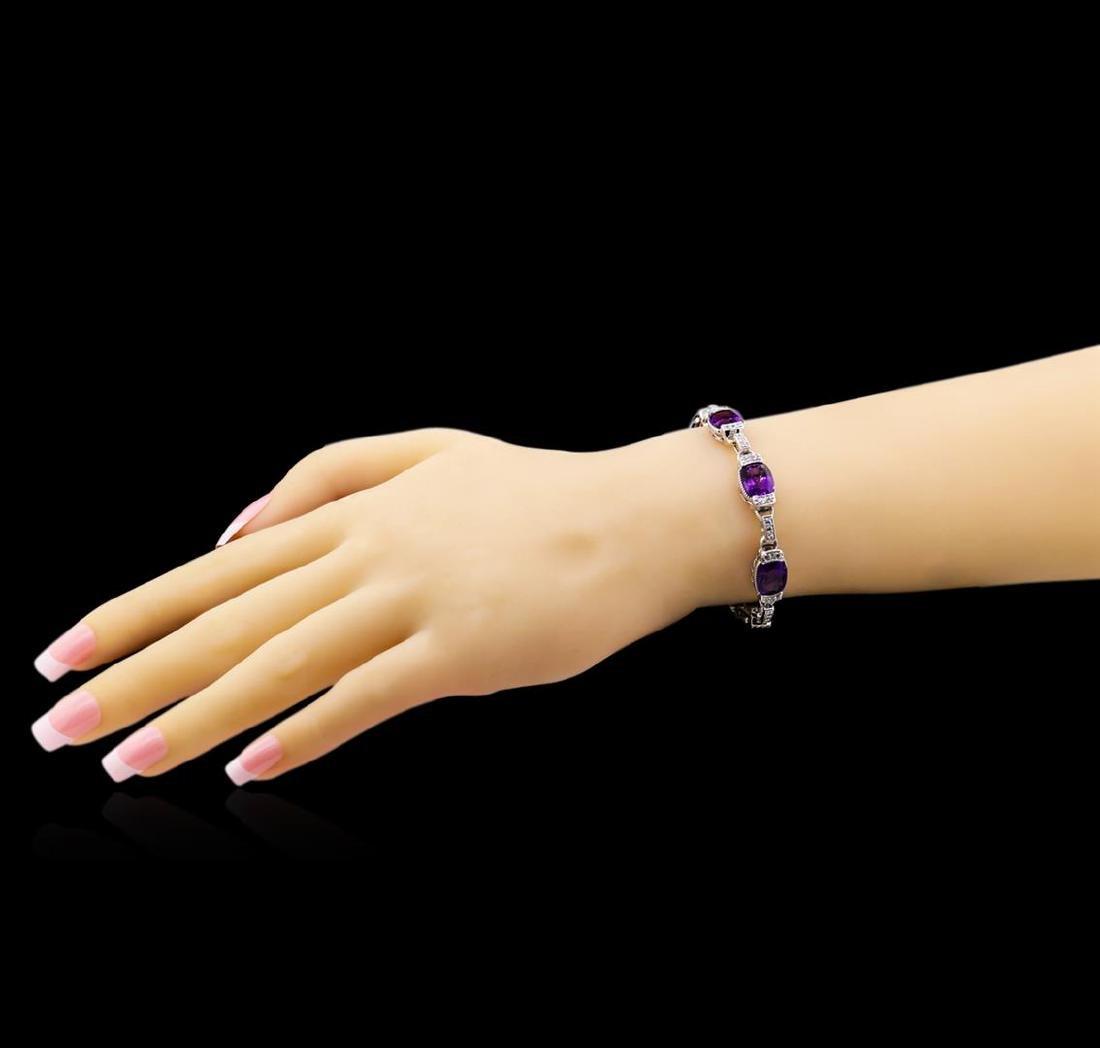 Crayola 20.00 ctw Amethyst and White Sapphire Bracelet - 3