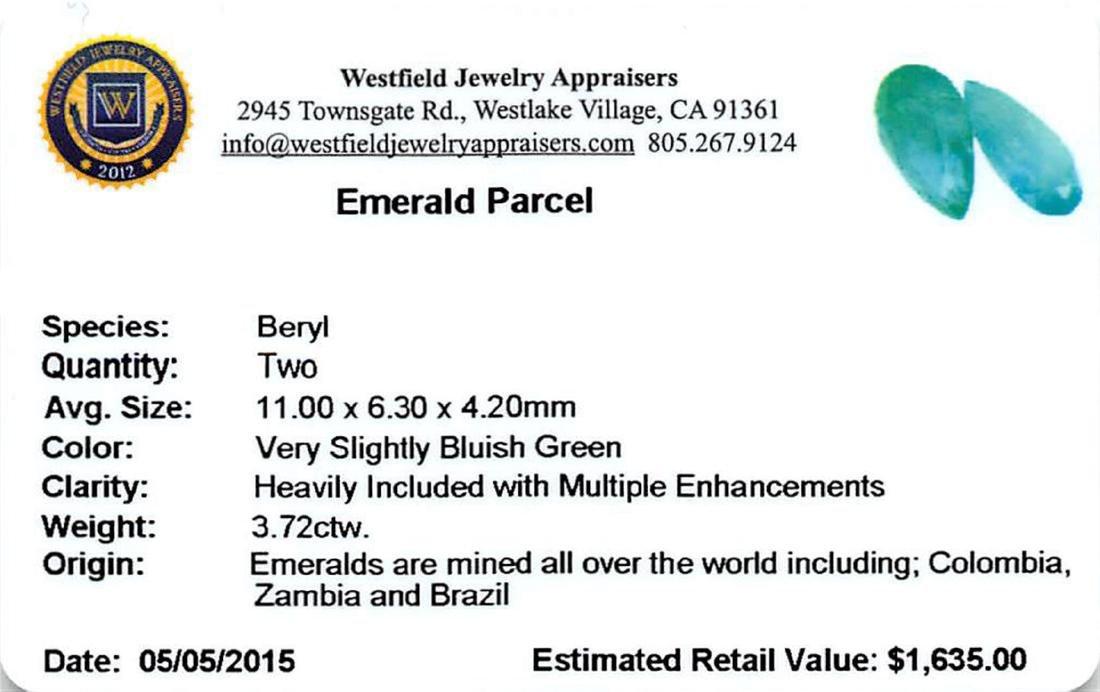 3.72 ctw Pear Emerald Parcel - 2