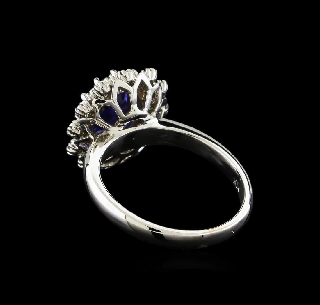 2.3 ctw Tanzanite and Diamond Ring - 14KT White Gold - 3