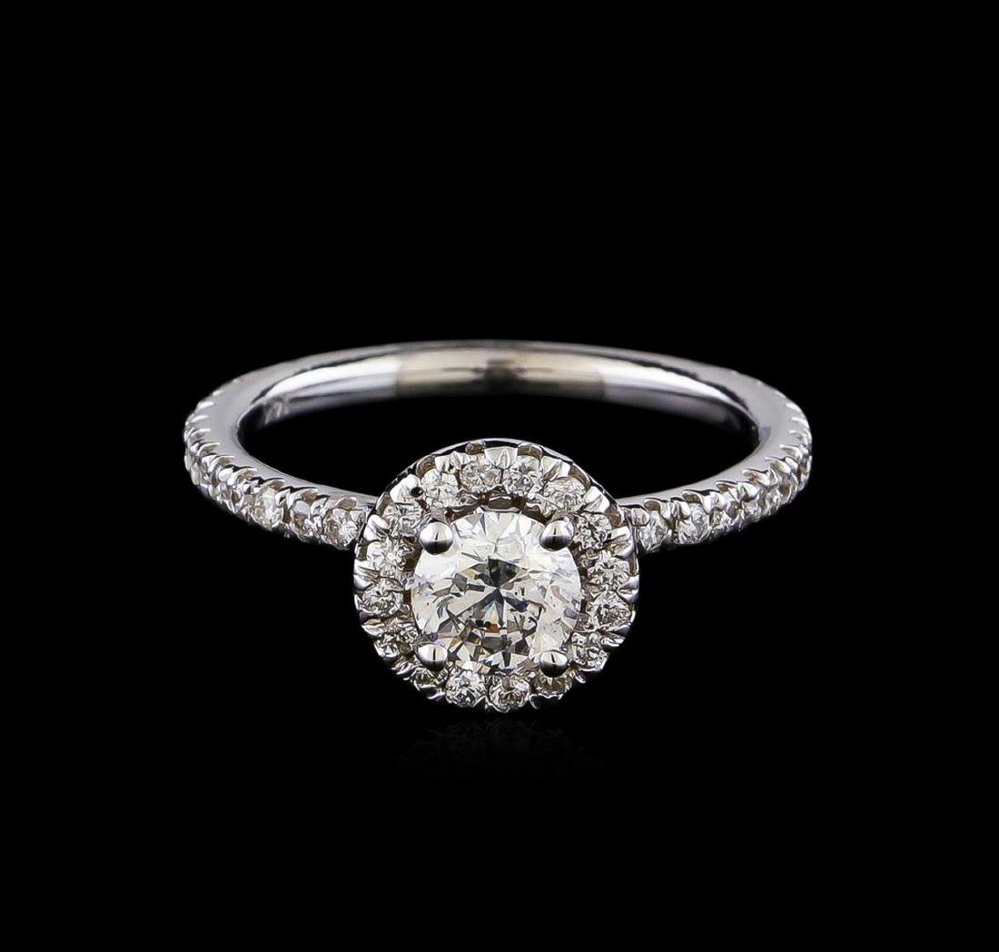 1.08 ctw Diamond Ring - 14KT White Gold - 2