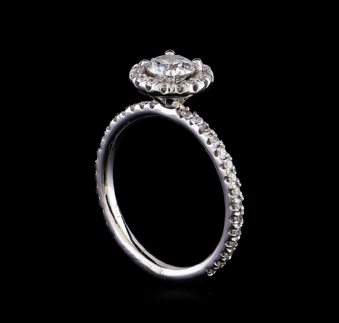 1.08 ctw Diamond Ring - 14KT White Gold - 4