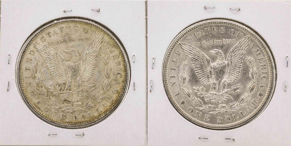 Lot of (2) 1900 & 1904 $1 Morgan Silver Dollar Coins - 2
