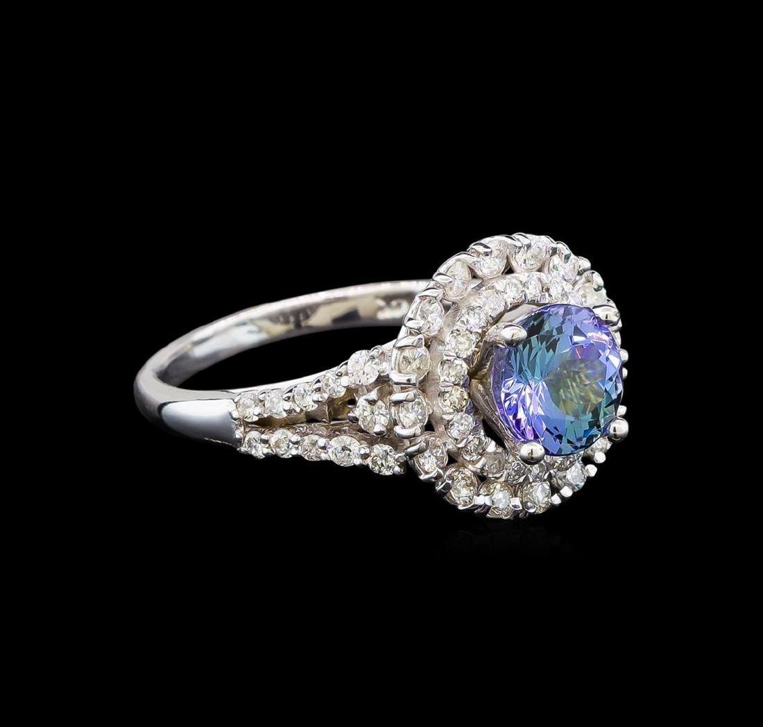 14KT White Gold 1.90 ctw Tanzanite and Diamond Ring