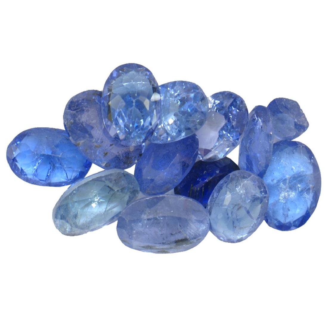 11.4 ctw Oval Mixed Tanzanite Parcel
