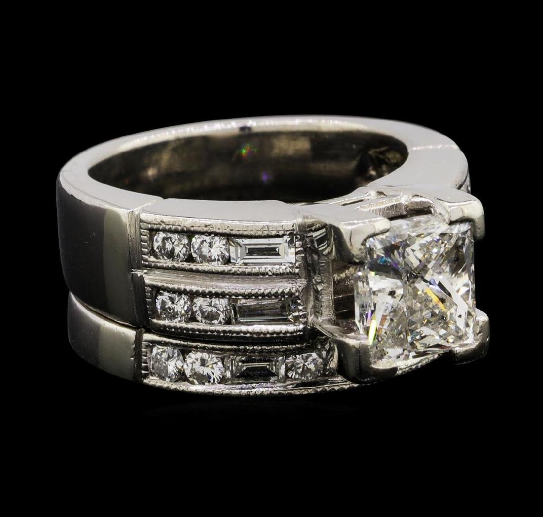 2.42 ctw Diamond Ring & Wedding Band - Platinum