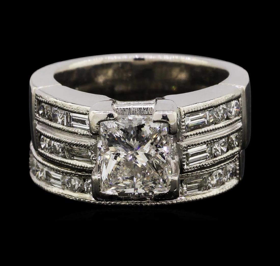 2.42 ctw Diamond Ring & Wedding Band - Platinum - 2
