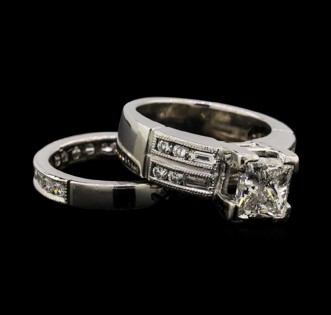 2.42 ctw Diamond Ring & Wedding Band - Platinum - 3