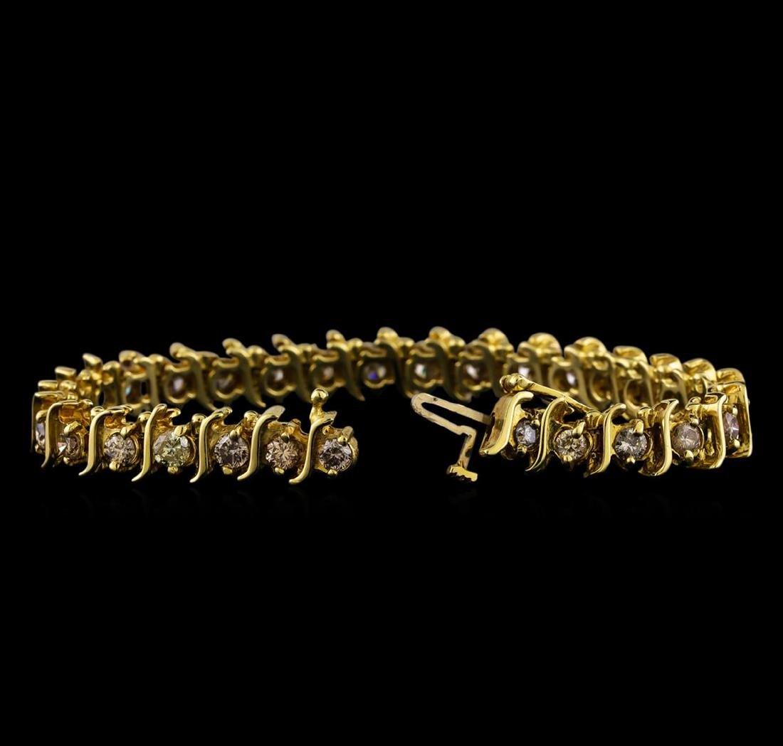 4.85 ctw Diamond Bracelet - 14KT Yellow Gold - 3