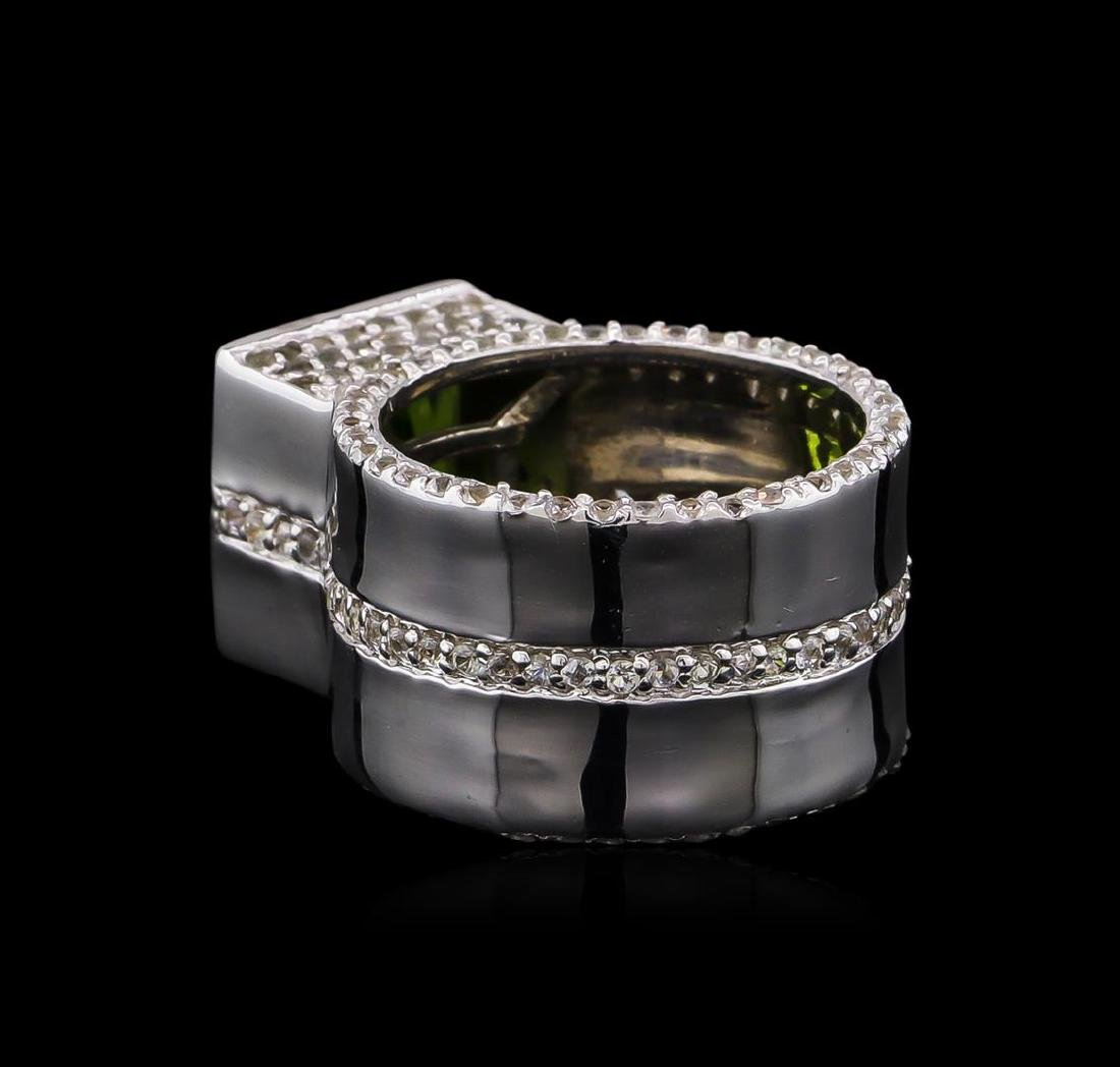 Crayola 3.50 ctw Peridot and White Sapphire Ring - .925 - 3