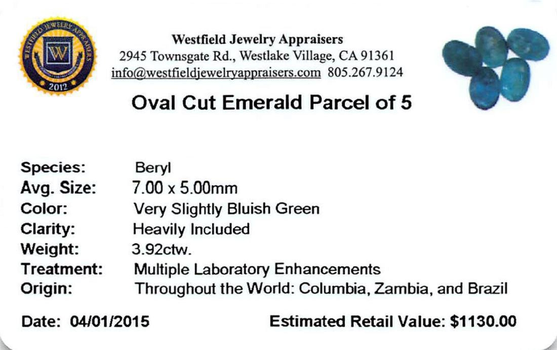 3.92 ctw Oval Mixed Emerald Parcel - 2