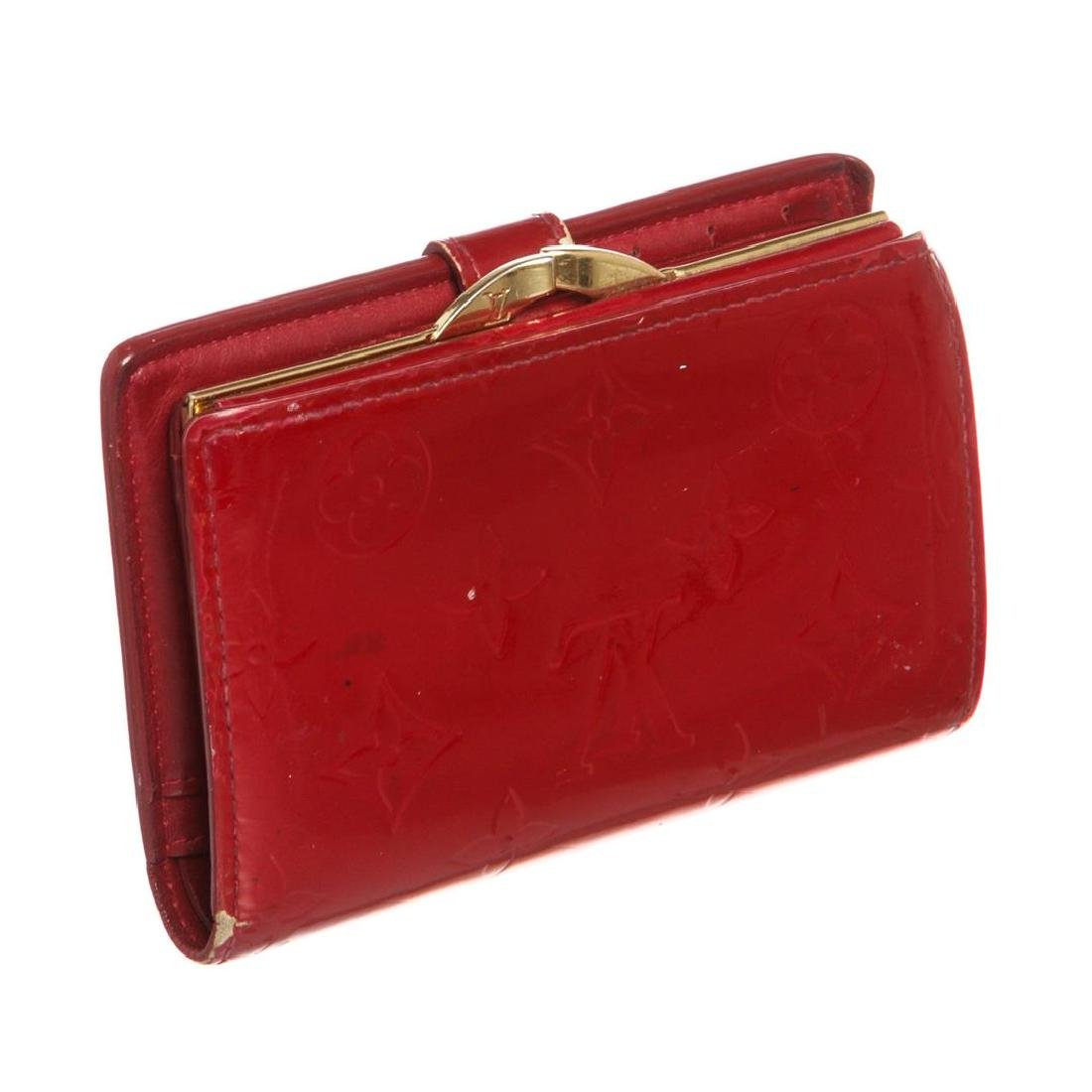 Louis Vuitton Red Vernis Monogram French Wallet - 3