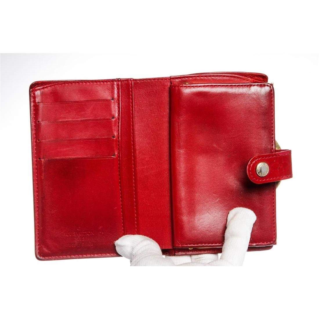 Louis Vuitton Red Vernis Monogram French Wallet - 5