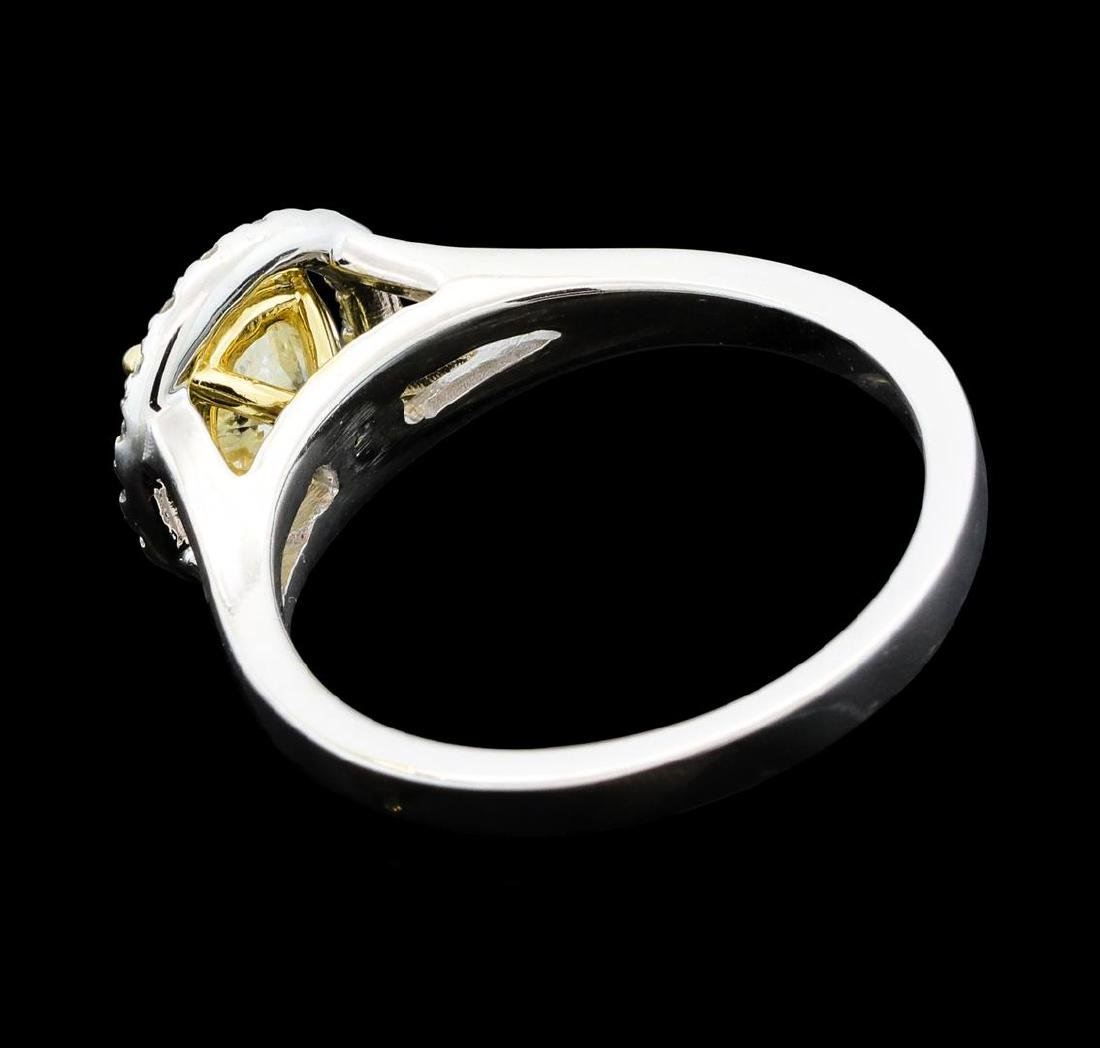 1.25 ctw Diamond Ring - 14KT White And Yellow Gold - 3