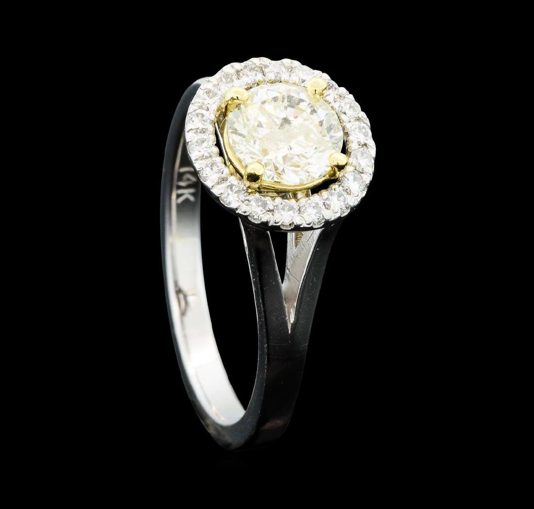 1.25 ctw Diamond Ring - 14KT White And Yellow Gold - 4